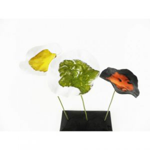 Trio de fleurs en céramique
