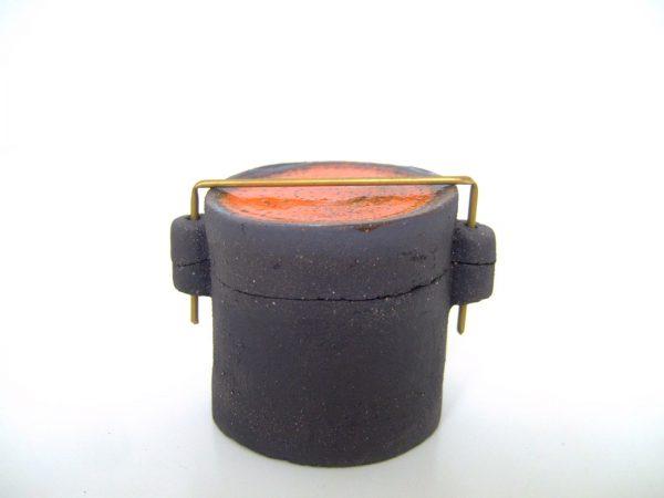 """Boîte """"Sixties"""" en céramique, couvercle orange"""