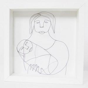 Tableau en dentelle de métal « Maternité »