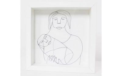 Tableau en dentelle de métal «Maternité»