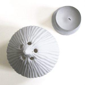 Photophore en porcelaine