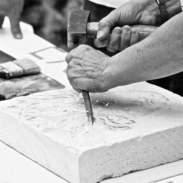 cours de sculpture sur pierre