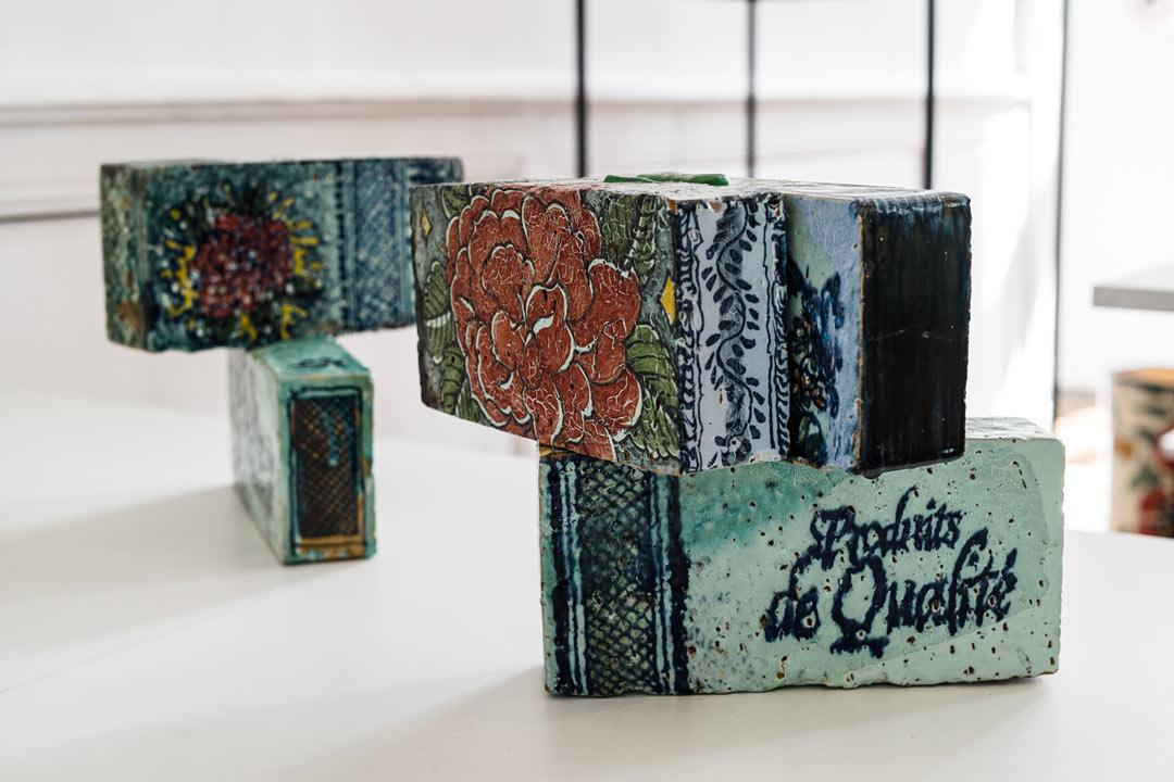 Jérôme Galvin, Briques, céramique - photo J-Y Le Dorlot
