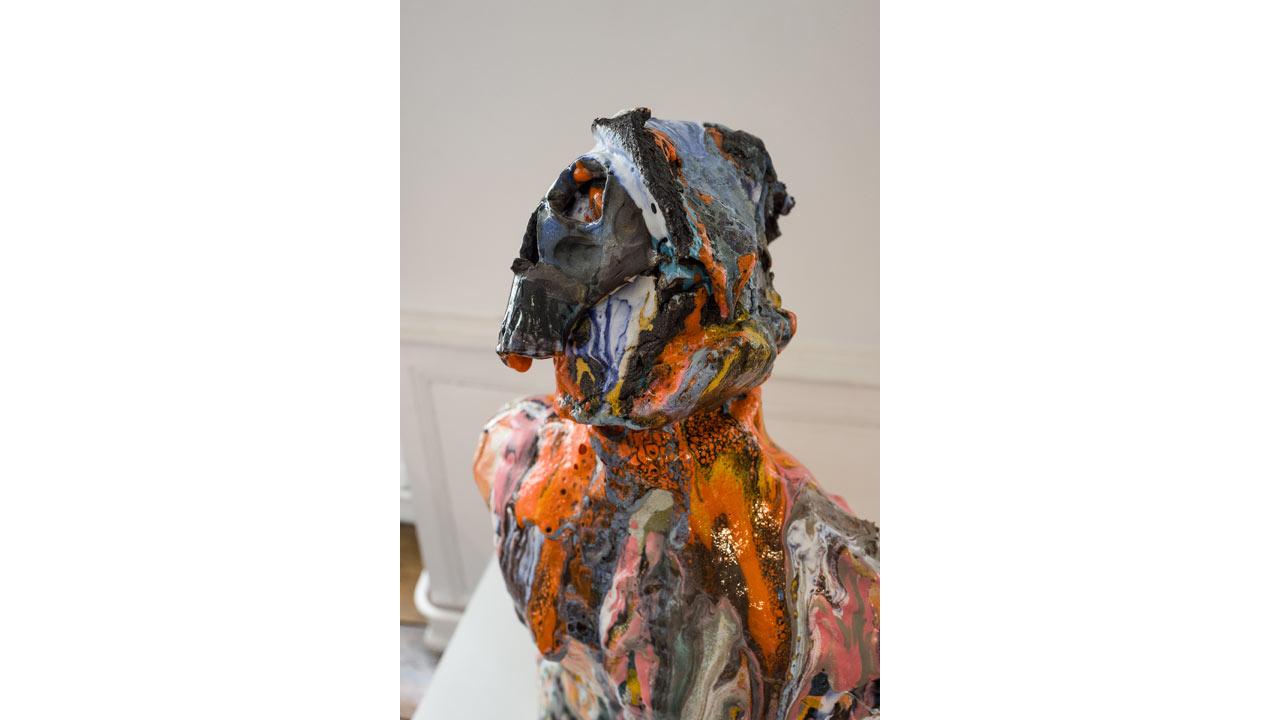 Nicolas Roscia, Buste, céramique - photo J-Y Le Dorlot