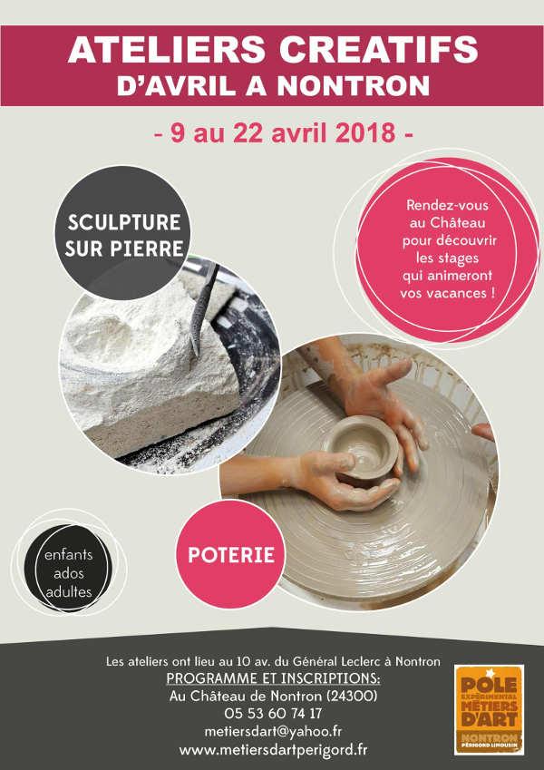 Ateliers métiers d'art d'avril à Nontron