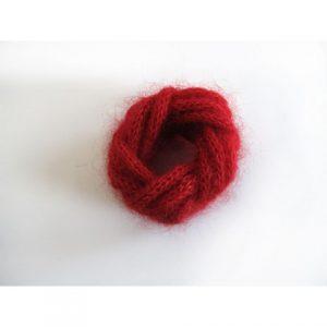 Bracelet mohair rouge