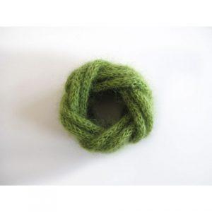 Bracelet Mohair vert amande