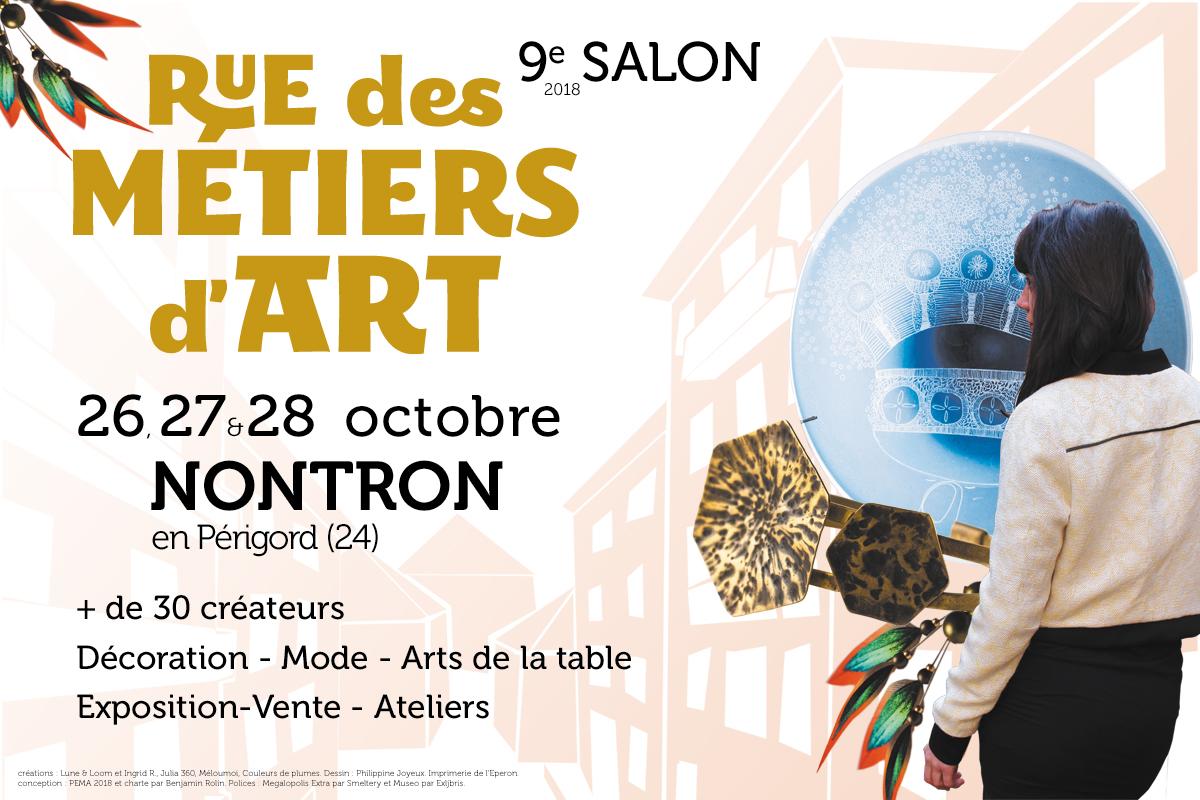 Salon Rue des Métiers d'Art à Nontron, Dordogne - Périgord - Nouvelle-Aquitaine, 30 créateurs artisanat d'art