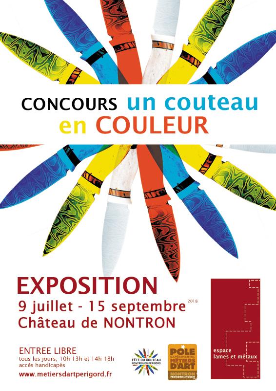 Exposition du Concours «Un couteau en couleur»- Espace Lames et Métaux à Nontron
