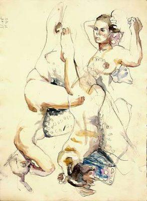 dessin au fusain et pastels, Sue Wilks