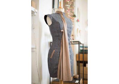 Fozia Hafiz - Chuuutes, couturière, styliste, recyclage - Vue à la Boutique Métiers d'Art de Nontron