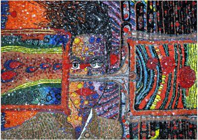 Sandrine Combes, mosaïque pâte de verre, atelier d'art à Nontron