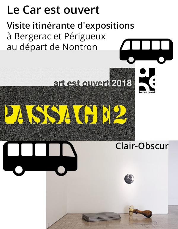 Le car est ouvert – visite itinérante d'expositions en Dordogne
