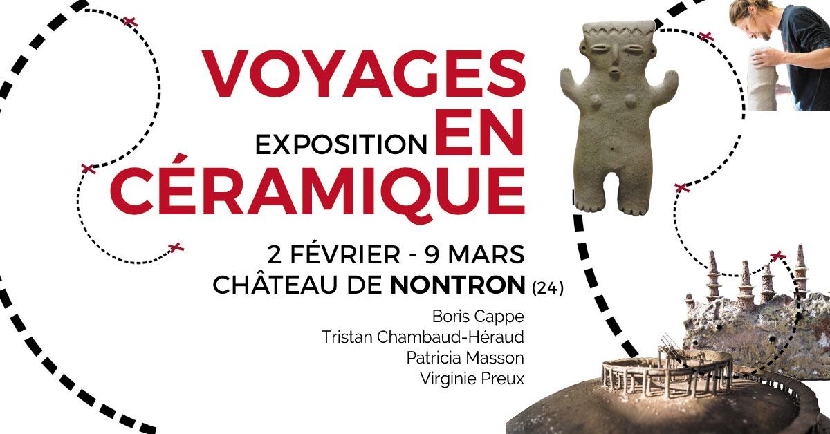 Exposition Voyages en céramique à Nontron