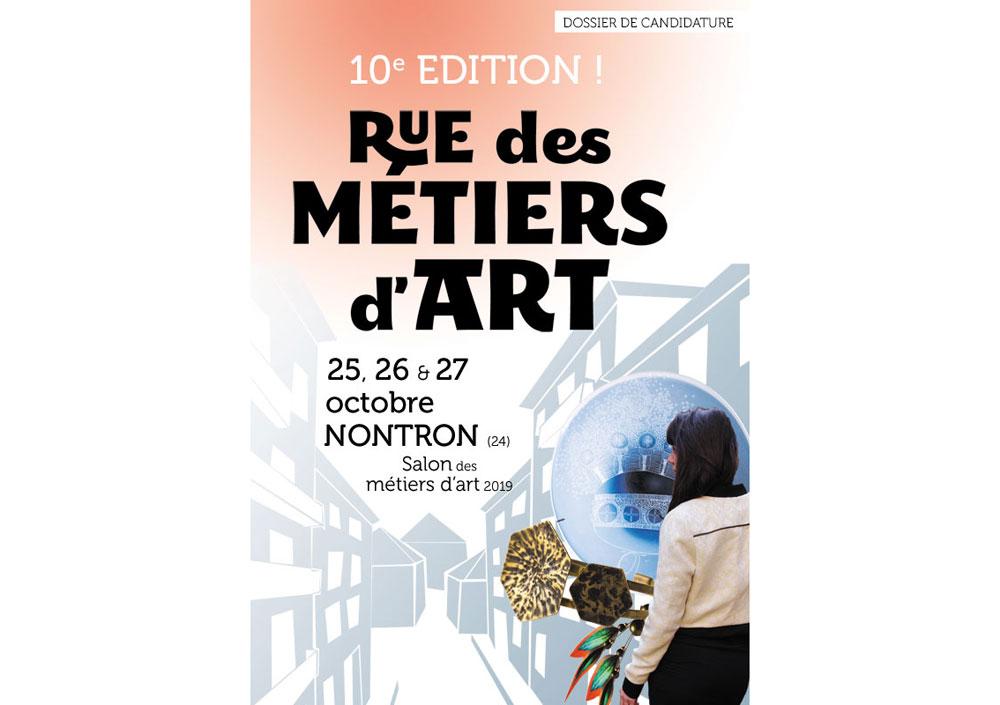 Candidature salon Rue des Métiers d'Art à Nontron 2019