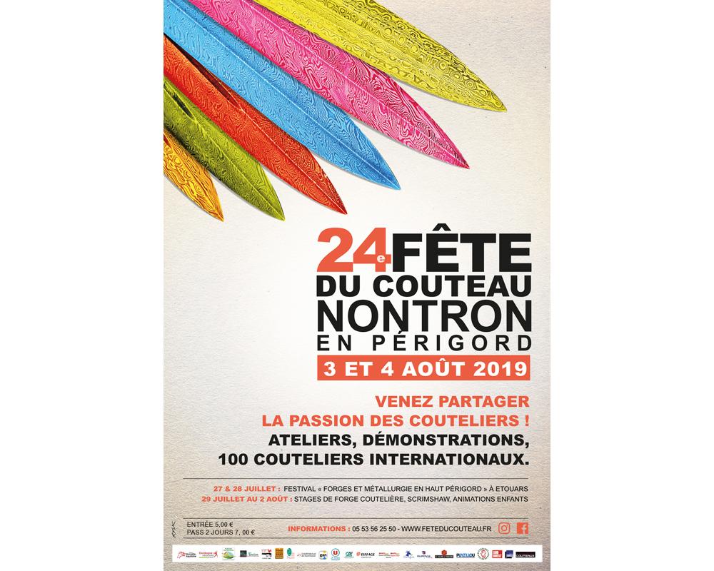 Affiche 24e Fête du couteau à Nontron 2019