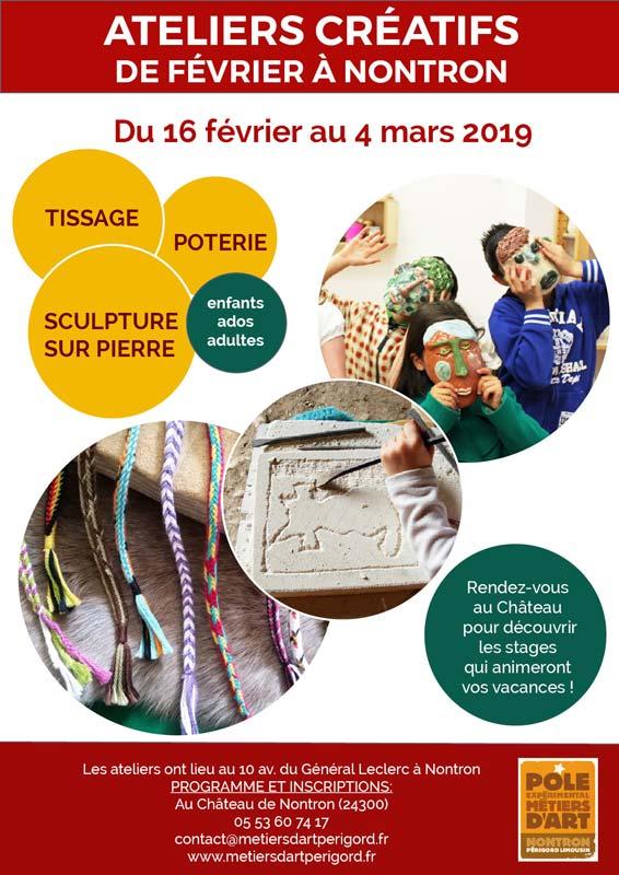 Ateliers métiers d'art de février à Nontron