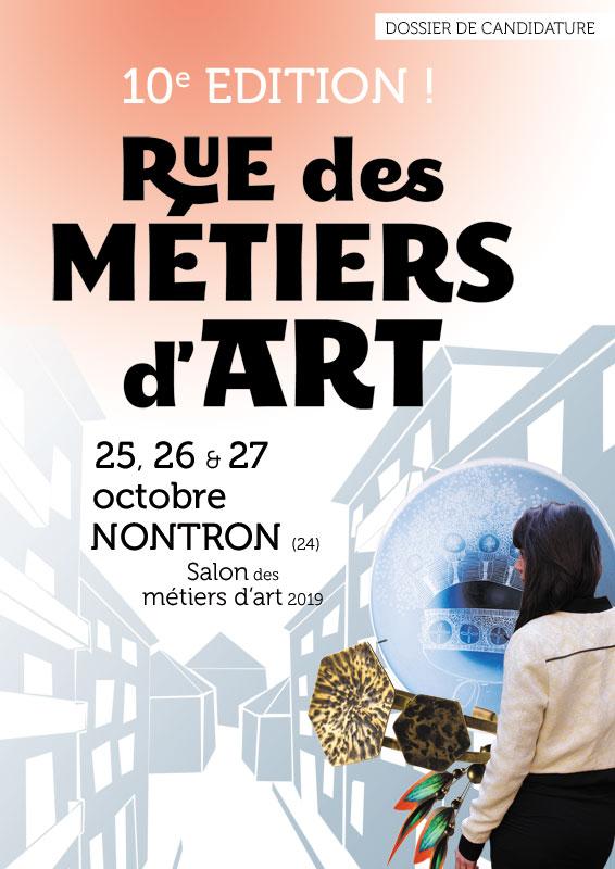 Appel à candidatures – salon Rue des Métiers d'Art à Nontron 2019