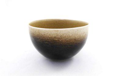Bol en porcelaine émaillée Tenmoku et Céladon