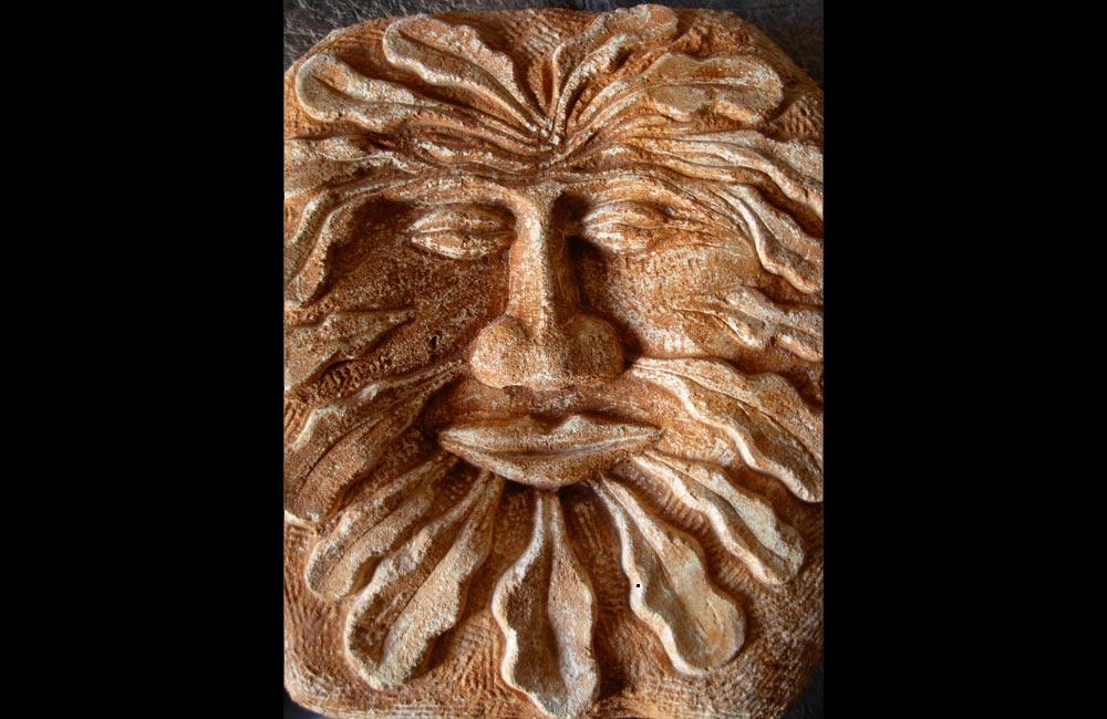 Greenman, sculpture de Pierre Carcauzon - exposition Inspiration Nature à Nontron