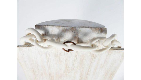 Sautoir porcelaine et graines de Patricia Masson