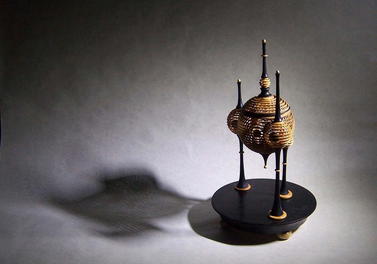 Sculpture en bois tourné de Jean-Pierre Bouillot