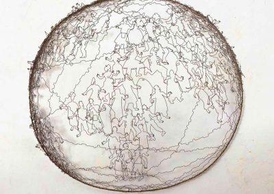 Multitude - Création en fil de fer - Fanny Garrigue