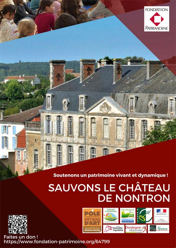 Please make a donation to save the Nontron castle and for the development of the Experimental Pole of Arts and Crafts!