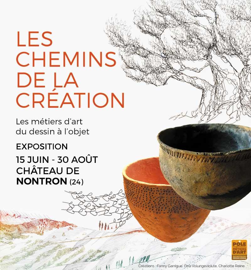Les chemins de la création, arts and crafts exhibition in Nontron – Extended