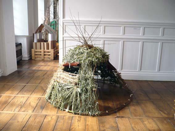 Création d'élèves - cabane éco-construite