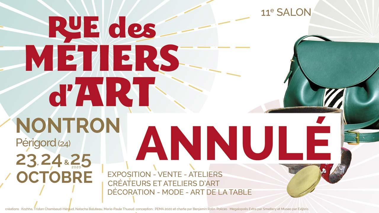 Annulation du salon Rue des Métiers d'Art 2020
