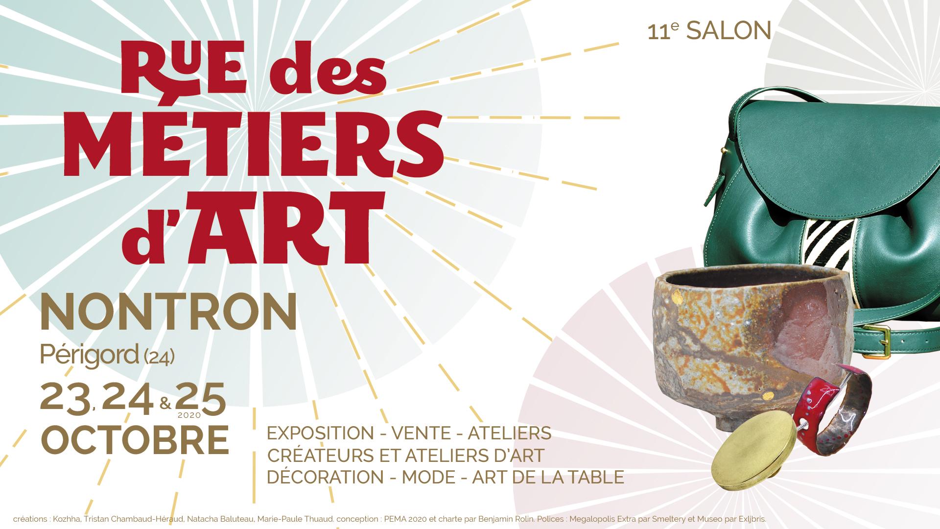 Salon Rue des Métiers d'Art à Nontron - 23, 24 et 25 octobre 2020