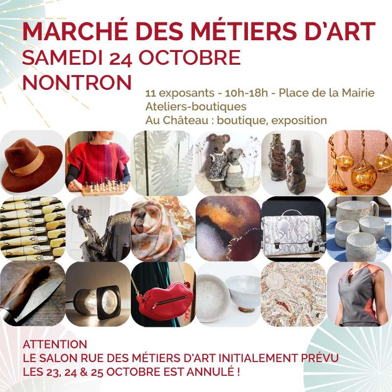 Marché des métiers d'art - 24 octobre 2020 à Nontron