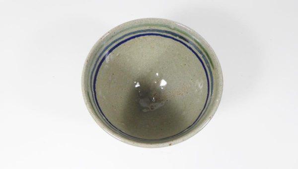 Bol rustique vert en grès de Fuilet - Sandrine Lanoë