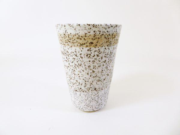 Gobelet porcelaine et sable - Sandrine Lanoë
