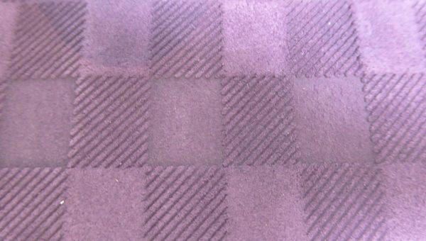 Porte-cartes et chéquier violet - cuir - Anne Rambaud