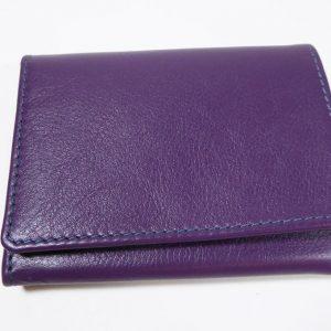 Porte-monnaie violet - cuir - Anne Rambaud
