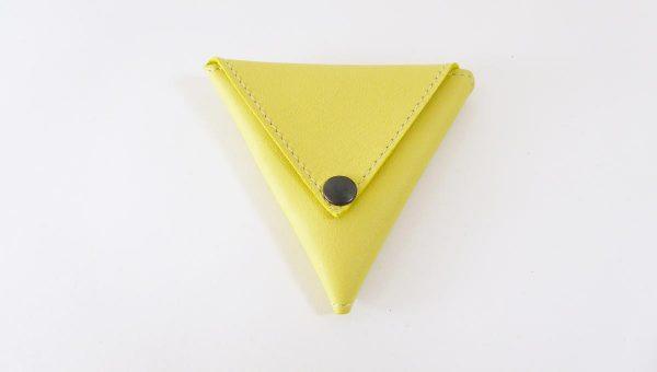 Triangolo jaune - cuir - Anne Rambaud