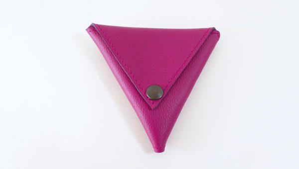 Triangolo rose - cuir - Anne Rambaud