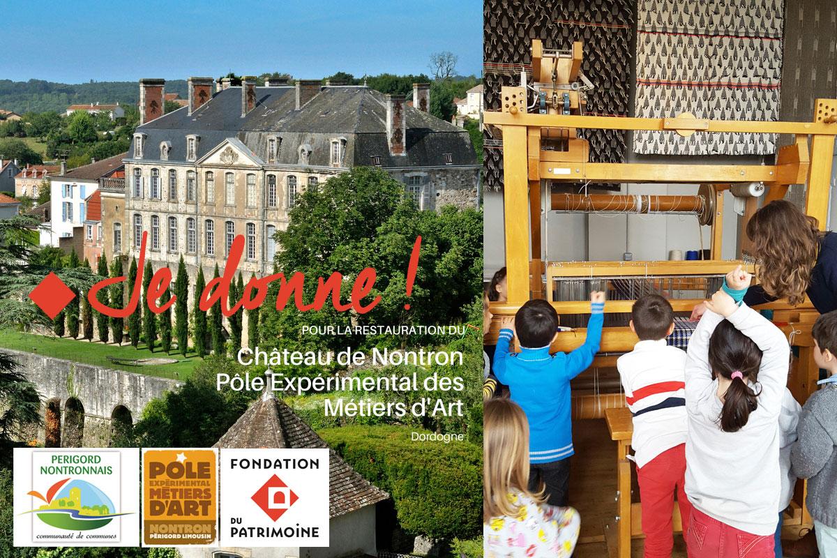 Faites un don pour la restauration du Château de Nontron et le développement du Pôle métiers d'art !