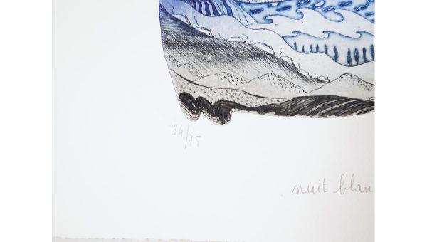 Gravure Nuit blanche - Charlotte Reine