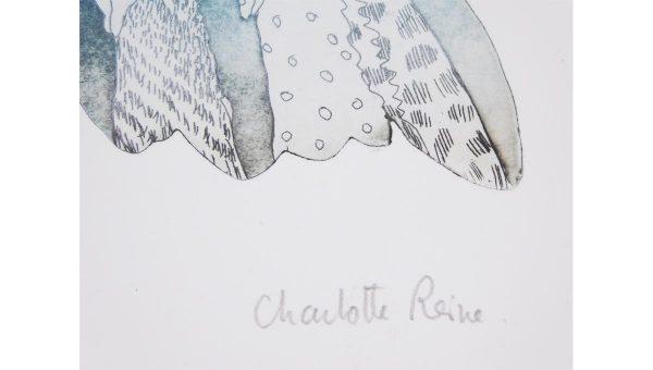 "Gravure ""Nuivole"" - Charlotte Reine"