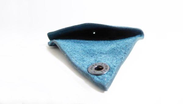 Triangolo bleu - cuir - Anne Rambaud