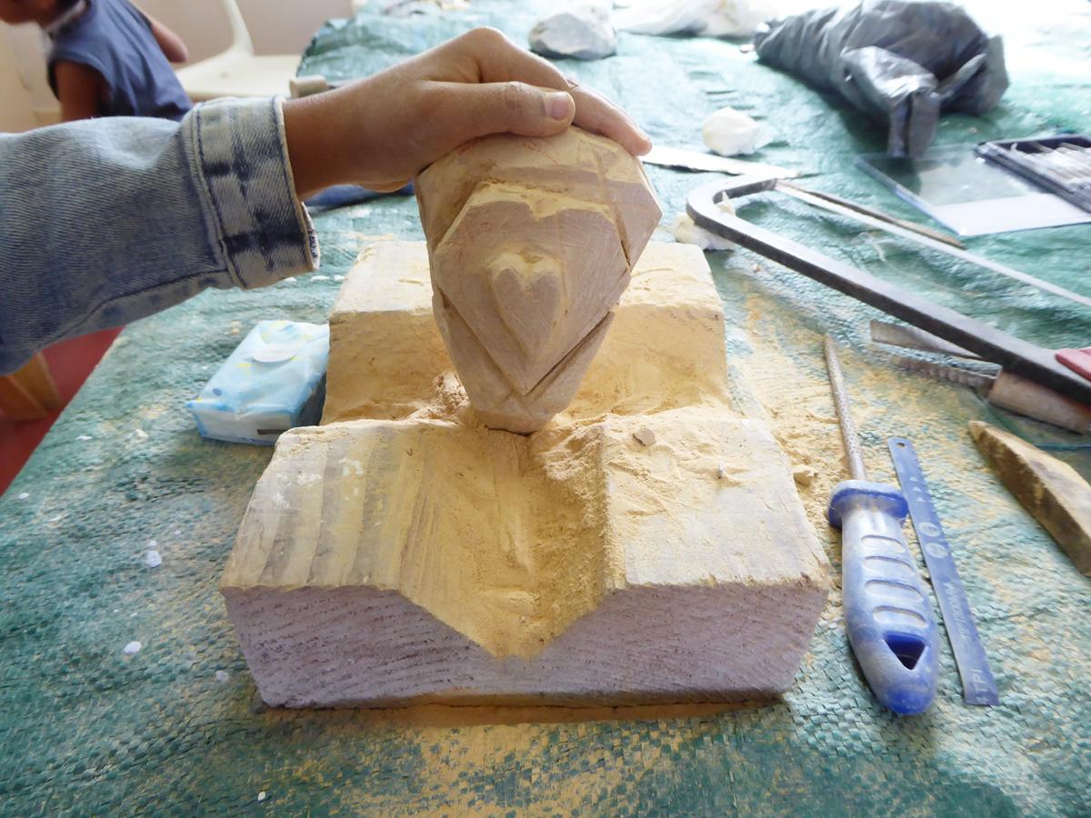 Sculpture en stéatite, cours pour enfants- Rudy Becuwe