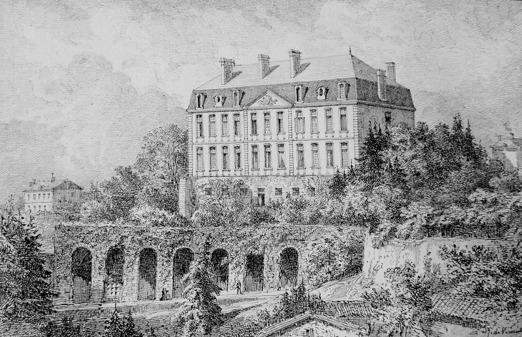 Jules de Verneilh, façade Est sur les jardins, vers 1890