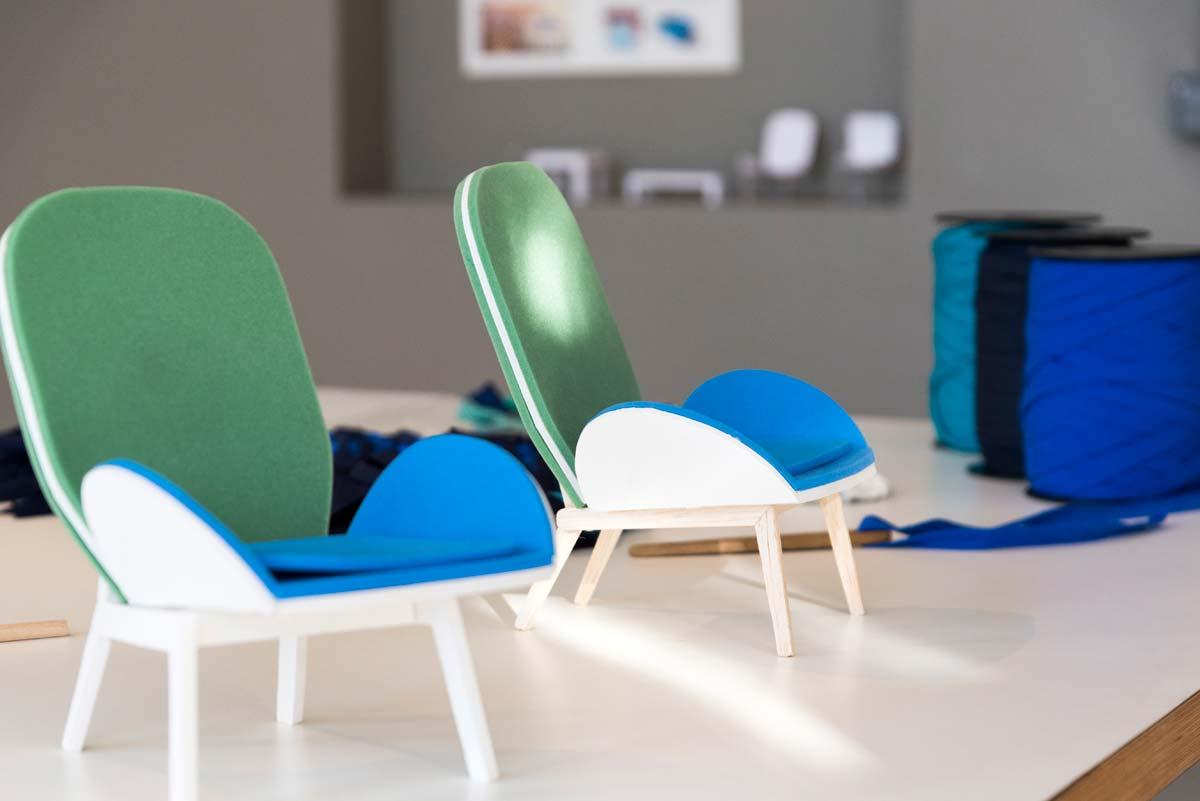 Maquettes du fauteuil cerf - Les M Studio, photo Michel Dartenset