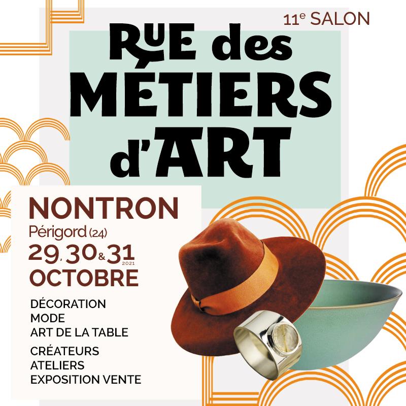 11e Salon Rue des Métiers d'Art à Nontron – 29, 30 et 31 octobre 2021